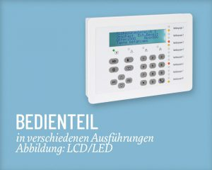 ABI Bedienteil LCD Salzer Security Systems