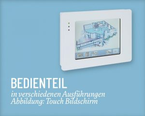 ABI Bedienteil Touch Salzer Security Systems