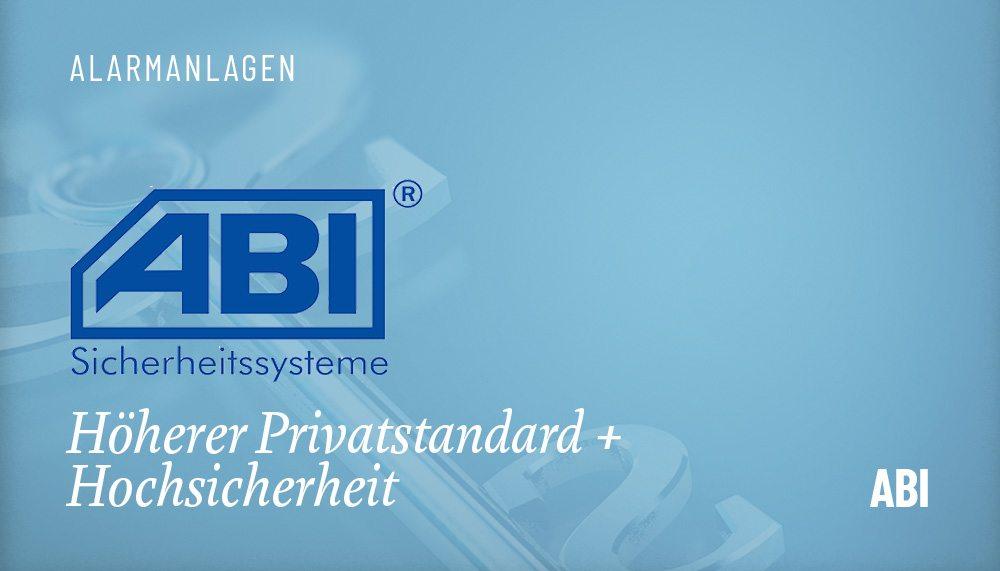 Produktgruppen Alarmanlage ABI