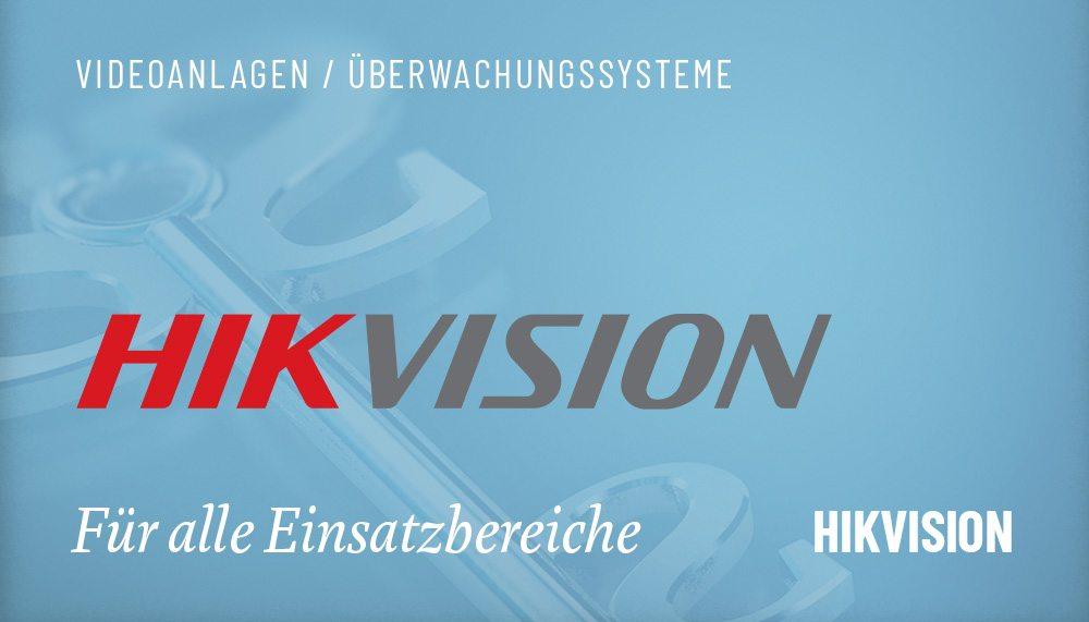 Produktgruppen Videoanlagen Hikvision